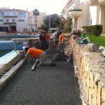 Savia proyectos Reparación con hormigón poroso