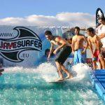 Ola artificial Wave surfer.