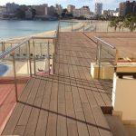 Savia proyectos nueva terraza solarium frente al mar y playa