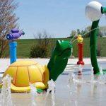 Savia proyectos parque acuático splash area con tortuga y chorros