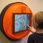 Savia proyectos bubble kid Corners pantalla digital infantil redonda naranja pintar