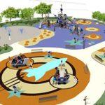 Savia proyectos juegos interactivos proyecto cohete pavimento de seguridad en parque infantil