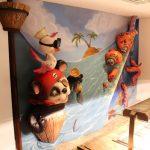 Savia proyectos buffets-infantiles-tematicos oso panda pirata pulpo en restaurante buffet vista lateral