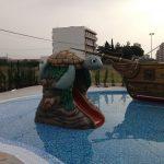 Savia proyectos parque acuático infantil con tobogán tortuga detalle y barco pirata