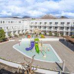 Savia proyectos lanzarote-aequora-suites parque acuático infantil temática marina cascada caracolas vista aerea