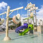 Savia proyectos lanzarote-aequora-suites parque acuático infantil temática marina cascada caracolas