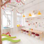 Savia proyectos saladejuegos habitación luminosa con tobogán taburetes seta y mesa