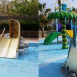 Savia proyectos hoteles_campings reparación parque acuático barco naufragio tiburón y palmera