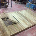Savia proyectos tarima madera para hamaca encaje levantado