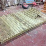 Savia proyectos tarima madera para hamaca encaje levantado vista lateral derecha