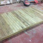 Savia proyectos tarima madera para hamaca vista lateral derecha