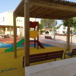 Savia proyectos parque infantil pavimento seguro porche y tobogá Ayto Palmanyola