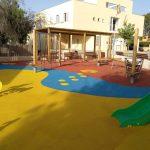 Savia proyectos parque infantil pavimento seguro columpios y tobogán Ayto Palmanyola