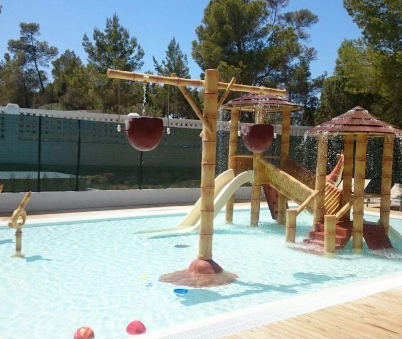Savia proyectos parque acuático infantil cascada coco splash pool BG Portinax Club