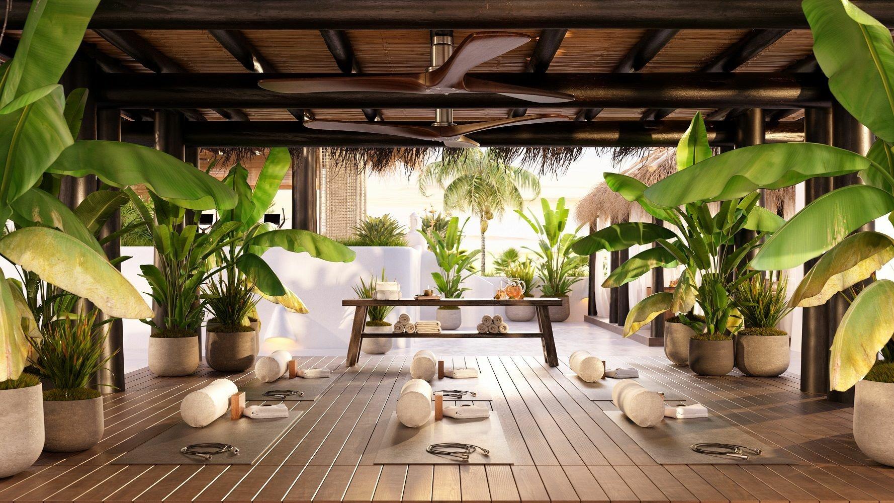 Savia proyecto cubiertas vegetales zona wellness relax yoga