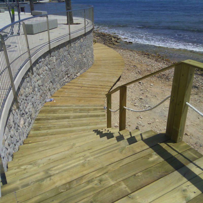 Savia proyecto Paseo Ses Pitiuses madera